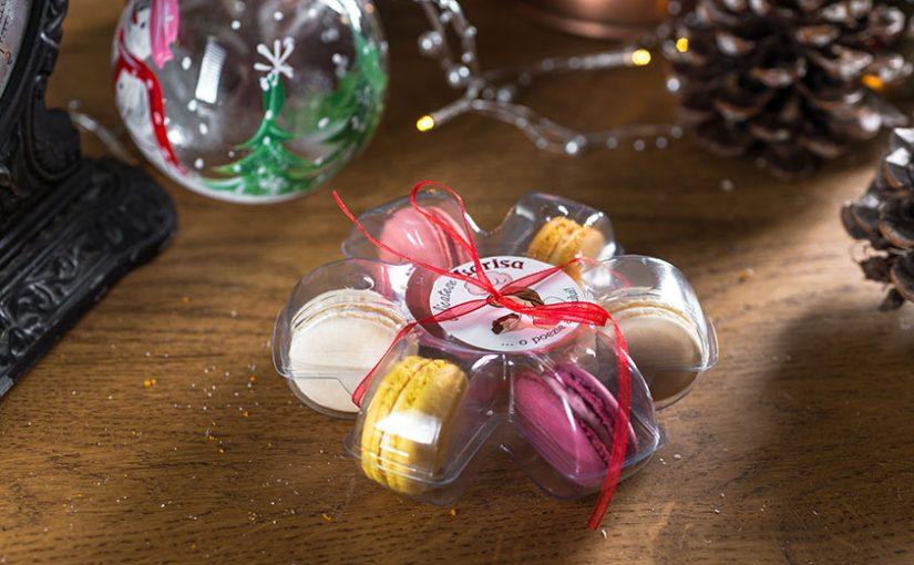 Macarons cadou de Crăciun